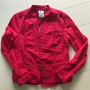NWT Anthropologie Elevenses Red Jacket - Size 14